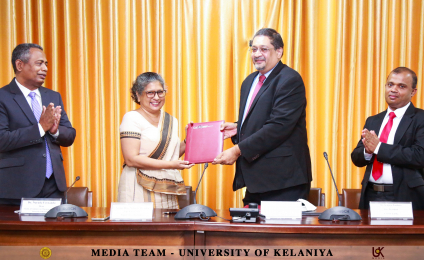 MoU Signed Between University of Kelaniya and CA Sri Lanka