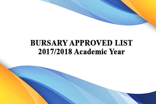 Approved Bursary List 2019