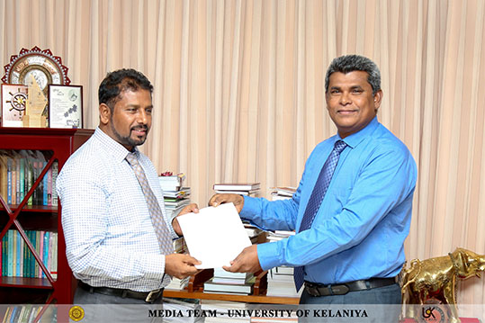 Senior Lecturer Dr. A.G. Amarasinghe appointed as the New Head of the Department of Geography