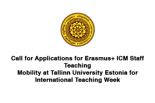 Call for Applications for Erasmus+ ICM Staff Teaching Mobility at Tallinn University, Estonia for International Teaching Week
