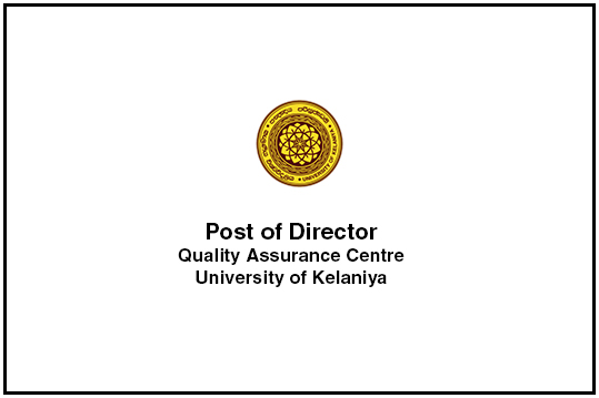 Post of Director - Quality Assurance Centre
