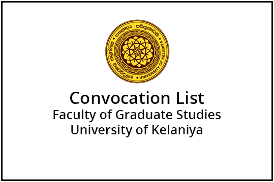 Convocation List