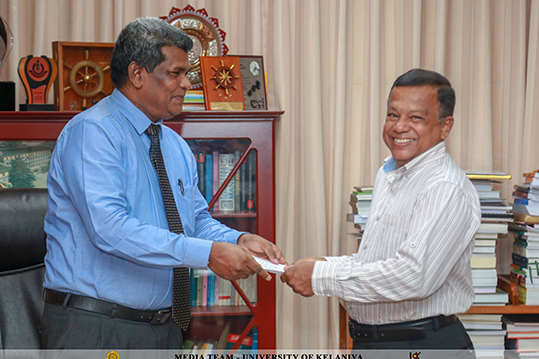 Prof. G. A. S. M. Ganehiarachchi as the Head of the Department of Zoology and Environmental Management