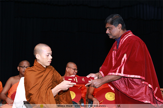Certificate Awarding Ceremony of the Diploma Courses of the Department of Pali & Buddhist Studies