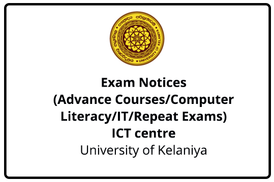Exam Timetable -ICT centre