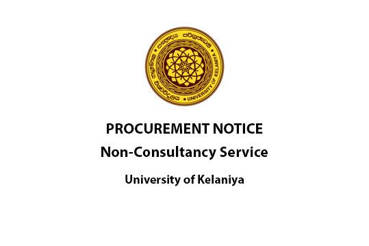 Procurement Notice,Non-Consultancy Service