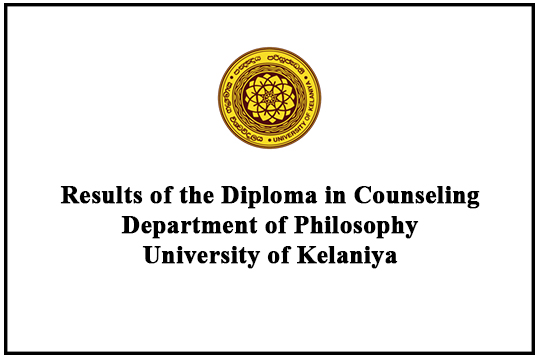 Results of the Diploma in Counseling