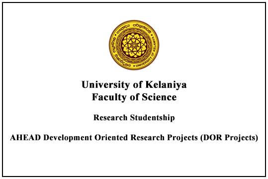 Research StudentshipAHEAD Development Oriented Research Projects (DOR Projects)