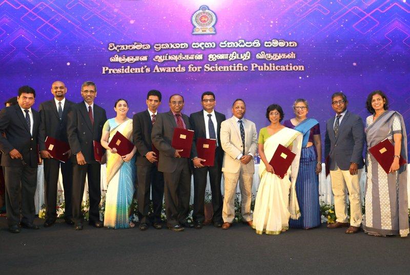 18 Kelaniya University Academics Receive President's Awards for Scientific Publication