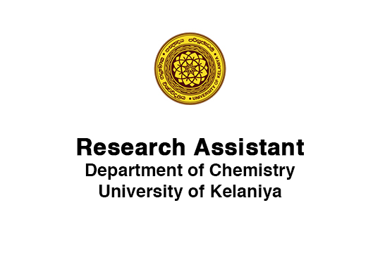 Vacancy- Research Assistant (Department of Chemistry)