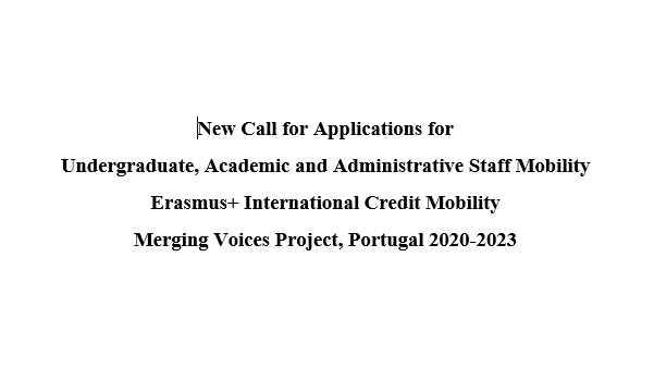 New Call for Applications for Undergraduate, Academic and Administrative Staff Mobility