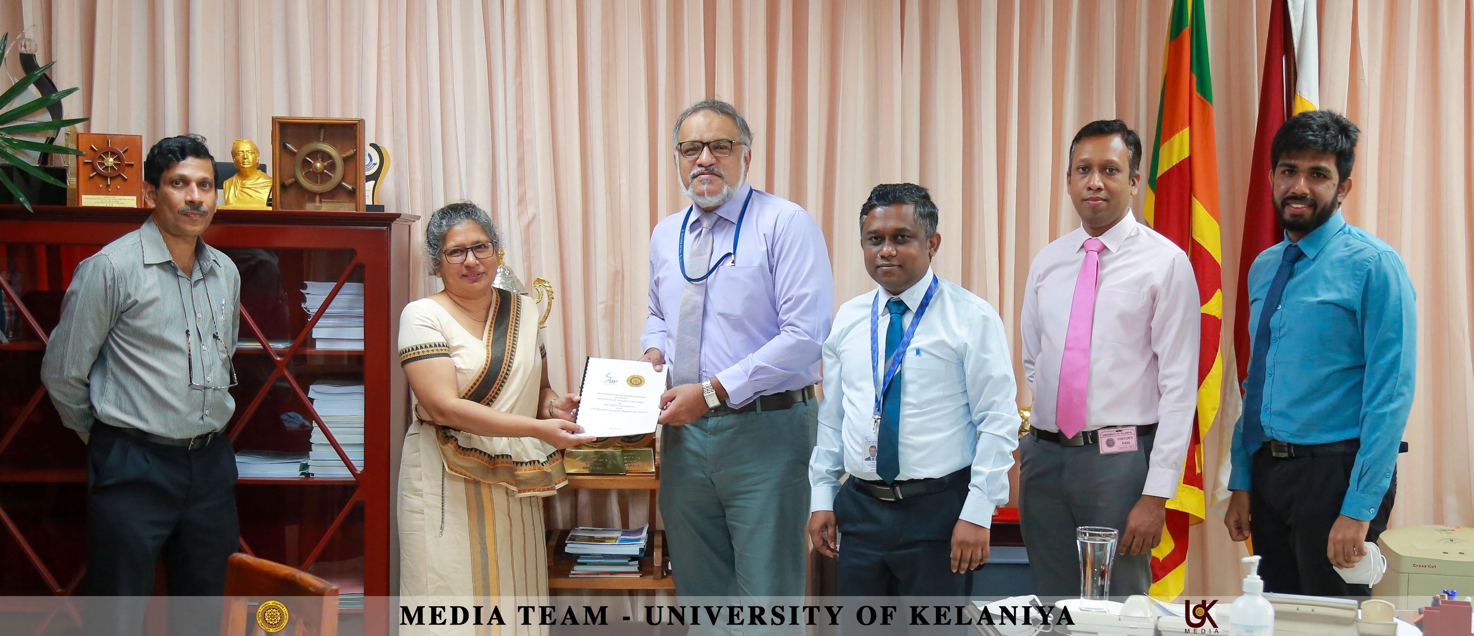 MoU Signed Between University of Kelaniya and Sri Lanka Telecom