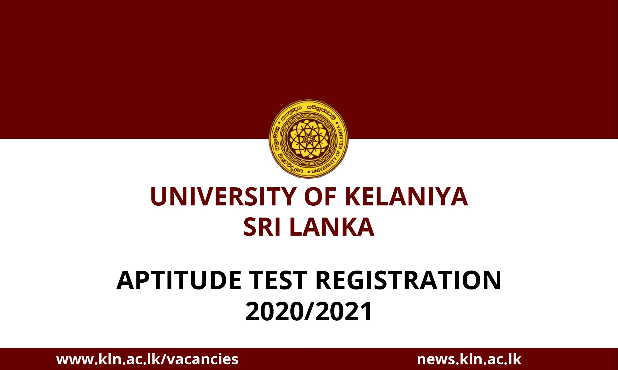New undergraduate programmes and Aptitude Tests offered by the University ofKelaniya